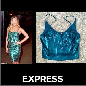 🦋Express•Teal Sequin Cami